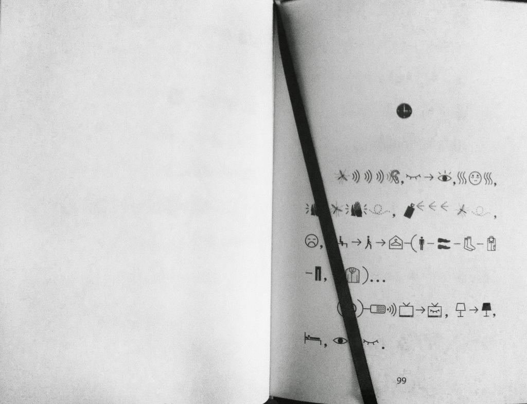 A las tres de la mañana en el libro de Xu Bing
