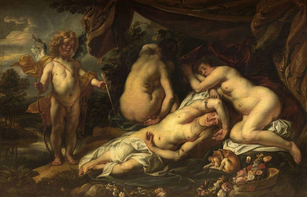 Wikimedia Commons. El sueño de Venus, de Jordaens. En realidad, la historia de Eros y Psique
