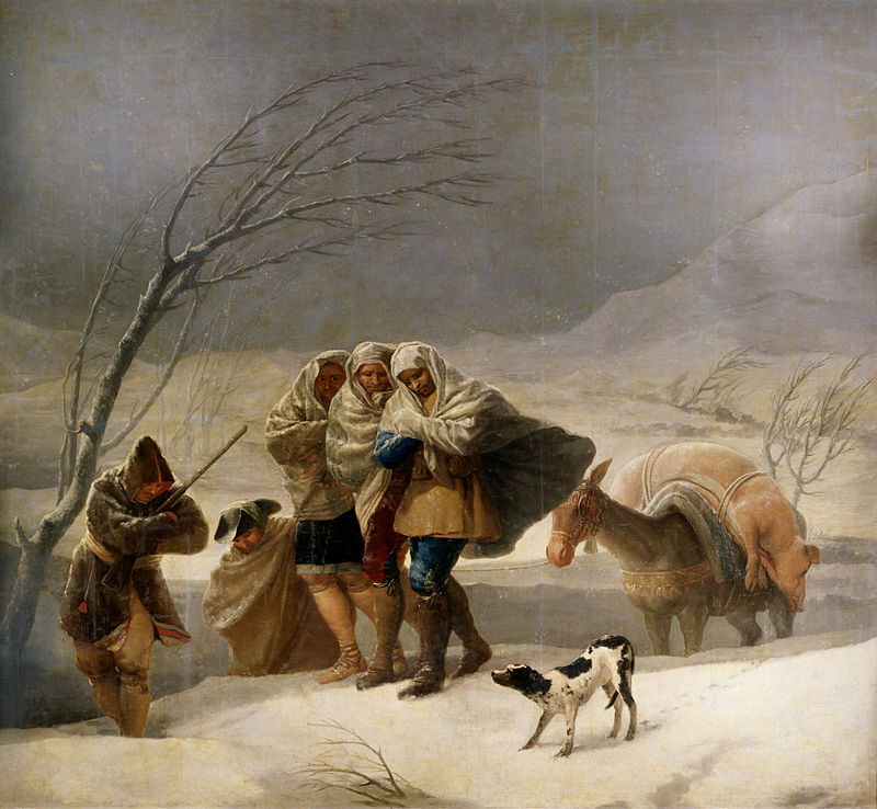 «Francisco de Goya y Lucientes 016» de Francisco de Goya - http://www.museodelprado.es/en/the-collection/online-gallery/on-line-gallery/obra/the-snowstorm-or-winter/. Disponible bajo la licencia Dominio público vía Wikimedia Commons - http://commons.wikimedia.org/wiki/File:Francisco_de_Goya_y_Lucientes_016.jpg#mediaviewer/File:Francisco_de_Goya_y_Lucientes_016.jpg
