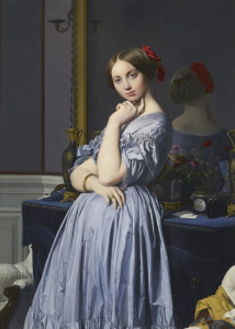Comtesse d'Hausonville, de Ingres. Via Wikimedia commons